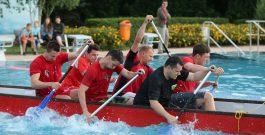 Leichtathleten auch auf dem Wasser mit guter Figur!